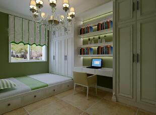 【石家庄长九中心公园9号】17号楼127平三室美式书房装修效果图,