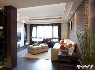 郑州实创装饰—嘉辰丽景苑126平三居—客厅设计,