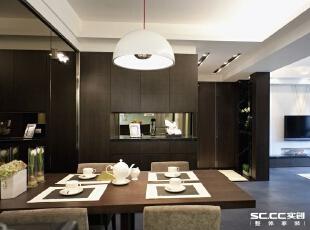 郑州实创装饰—嘉辰丽景苑126平三居—餐厅设计,