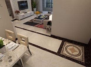 【石家庄博雅盛世装修】6号楼89.56平两室现代简约装修效果--玄关效果图展示,