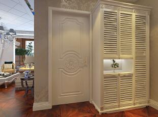 进门玄关柜地方,设置了玄关柜,充分利用空间,使收纳变到最大,,