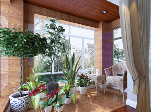 窗台是瓷砖铺设,吊顶使用生态木吊顶!,