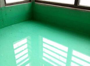 生活阳台有地漏,做的防水,