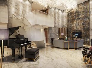 这是一个复式空间,设计师将原本平凡的楼梯进行了改造,呈现出这个带些造型与设计感的时尚楼梯,衔接上下两个空间。钢琴是主人要求加进去的,因为他们很喜欢生活中带些属于自己的旋律。 ,