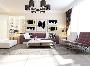石家庄长九中心公园9号17号楼A户型三室137平装修效果图--客厅效果图,