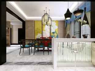 只要发挥各种建材的适当性,即使是使用玻璃、金属等现代建材,一样可以表现中式风格,