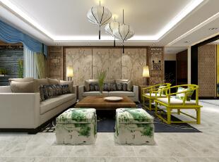 国风的构成主要体现在传统家具(多为清明家具为主)装饰品及黑,红为主的装饰色彩上。室内多采用对称式的布局方式,格调高雅,造型朴素优美,色彩浓厚而成熟。中国传统室内陈设包括字画、匾幅、盘景、陶瓷、古玩、屏风、博古架等,追求一种修身养性的生活境界。中国传统室内装饰艺术的特点是总体布局对称均衡,端正稳健,而在装饰细节上崇尚自然情趣,花鸟、鱼虫等精雕细琢,富于变化,充分体现出中国传统美学精神,