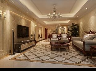 镜子与玻璃的使用是相对于传统古典的突破。连接在一起的餐厅和客厅中拥有镜子与玻璃,用金色的外漆表明这是新古典风格中不可或缺的元素,同时用明亮的镜面表现这是对新材料的突破与尝试!,
