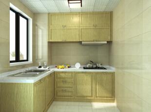 线条很简洁,干湿分明,瓷砖的颜色也特意选择了与橱柜相近的色彩。 ,