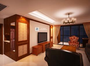 这是设计时画的客厅效果图,