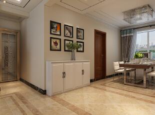 石家庄海棠湾1号楼A1户型三室129平现代装修效果图--玄关整体装修效果图,