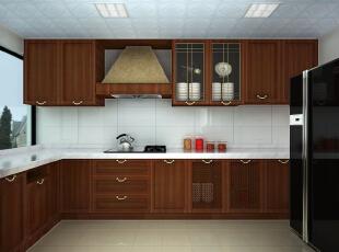 """大大的玻璃窗保证了厨房的采光,L型的工作台让""""水火分离"""",各种收纳橱柜也保证厨房的一切都会井井有条。 ,"""