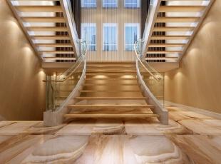 各层之间的楼梯间采用木质与玻璃搭配的形式,既满足了男业主对原木的喜好,也构成了简约风格的独特创意。,