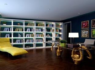 书房中最大的亮点大概就是由巨形羊角撑起来的书桌台了,金色卷曲的羊角撑起透明的钢化玻璃,古朴与现代形成强烈碰撞,传统与科技明显对比,带来的不仅仅是美感,更有大胆创造的设计包含其中。,