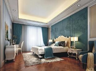 海蓝具有着巨大的魔力,他能让你的心情得以平复,海蓝色的墙面色为卧室的整体色彩,睡前能将一切的烦躁抛于脑后,安慰心情,带来更加舒适的睡眠。,