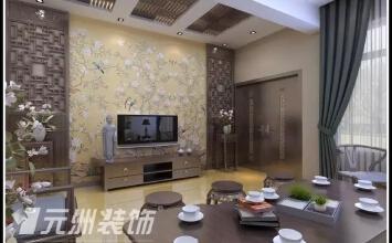 【大同元洲装饰】亲水湾龙园200平新中式风格装修案例