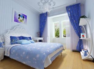 【乐豪斯装饰】远见168平三居室法式装修效果图+实景样板间--卧室效果图,