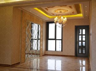 【乐豪斯装饰】远见168平三居室法式装修效果图+实景样板间--客厅样板间,