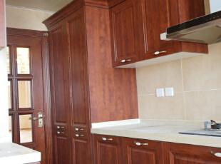 【乐豪斯装饰】远见168平三居室法式装修效果图+实景样板间--厨房样板间,