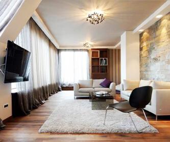 优雅的中性风现代住宅