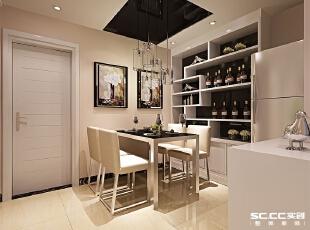 郑州实创装饰—铁道东风花园90平两居室—餐厅设计,