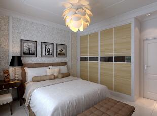 【恒新公馆装修】恒新公馆1号楼E户型135平三居室+现代简约风格装修效果图--卧室装修效果图,