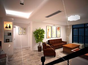 这是设计时画的客厅的效果图,