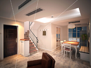这是设计时画的玄关和餐厅的效果图,