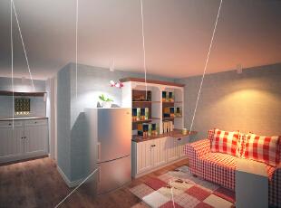 这是设计时画的二楼起居室的效果图,
