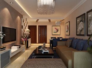 石家庄北城国际装修设计118平三室两厅现代简约风格案例欣赏,