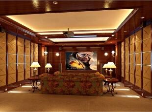 地下室扩建的影音室,布置多个沙发,满足一家三代人共同观影的目的。,