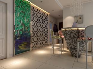 【北城国际C区装修】北城国际18号楼E户型115平三居室+简欧风格装修效果图--餐厅效果图,