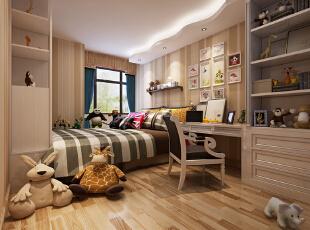 ,卧室,现代,原木色,白色,