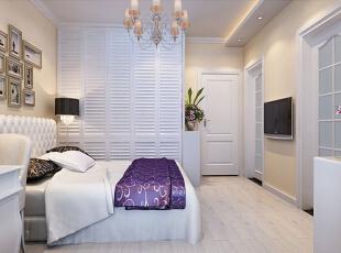 ,卧室,简约,白色,紫色,黄色,