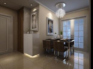 半透明的玻璃门让厨房和餐厅的隔断不那么明显,造型奇特的餐厅灯让用餐乐趣更高。,