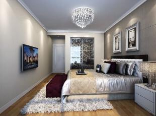 主卧的衣帽间,地毯,床头凳等等都彰显着一种富贵的气息。,