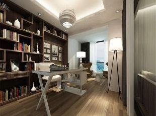 各种灯具让书房亮堂堂的,适宜读书,也可以远眺风景。,