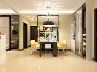 石家庄想象国际南区3号楼两室89.96平现代风格装修案例--餐厅装修效果图,