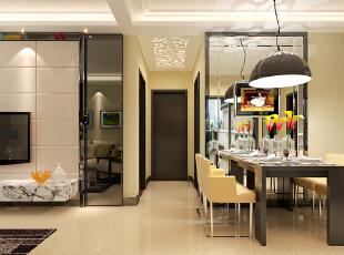 石家庄想象国际南区3号楼两室89.96平现代风格装修案例--玄关装修效果图,