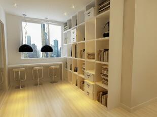 美景鸿城-140平米-简约风格装修--书房,