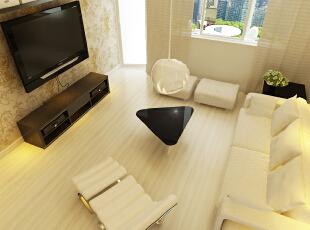 美景鸿城-140平米-简约风格装修--客厅,