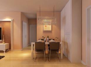 吴家村10号院76平二居室-餐厅 色彩搭配,软装搭配上风格上都与客厅相搭配,使之整体融洽,所用材料也相同。,