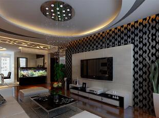 客厅主要是以黑白灰的搭配让吊顶也不例外,