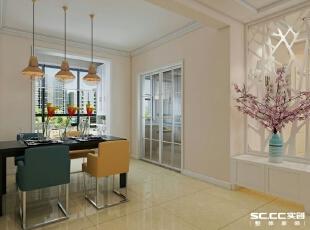 墙面暖咖色加上颜色鲜艳的照片墙点缀,简单,大方,让整个餐厅更加有具有食欲。,