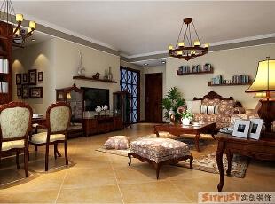 二七万达-140平米-美式风格--客厅,