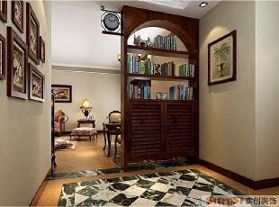 二七万达-140平米-美式风格--书柜,