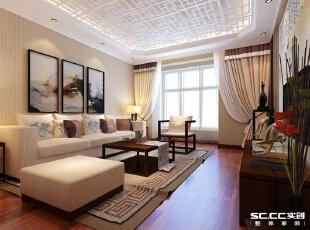 郑州实创装饰—家天下三期92平三居室—客厅设计,