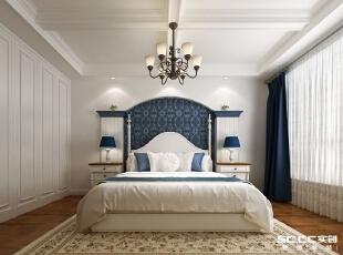 继承了传统欧式对称的习惯,采用地中海风格的配色特点,诠释了现代地中海风格的延续。,