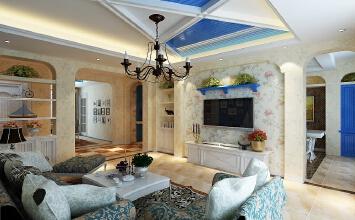 98平现代简约地中海三居室