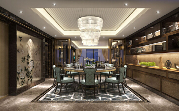 本案以现代简约中式风格为主题,彰显的整个家居空间